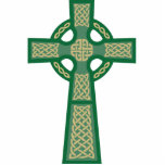 "Green Celtic Cross Photo Sculpture<br><div class=""desc"">Green Celtic Cross Photo Sculpture Statue.  Celtic Crosses were mostly made of stone,  and remained an inspirational symbol around Ireland,  Wales,  and Britain.  Eventually,  the Celtic Cross spread throughout the British Isles.  This design is available in various colors,  so be sure to check out my other Celtic Cross products!</div>"