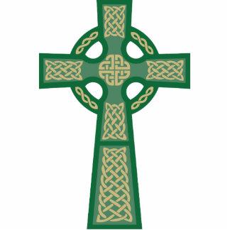 Green Celtic Cross Photo Sculpture