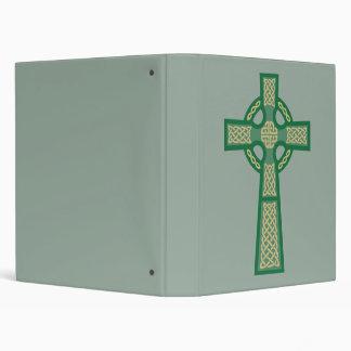 Green Celtic Cross School Binder