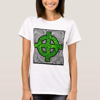 Green Celtic Cross Tee
