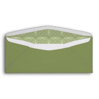 Green Celtic Custom Envelope w/ Printed Address
