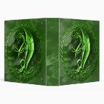Green Celtic Dragon 3 Ring Binder