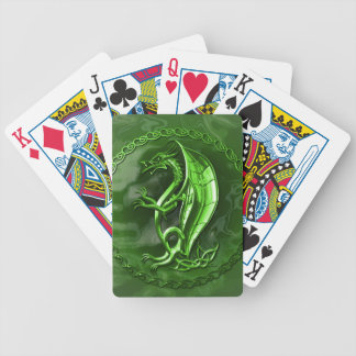 Green Celtic Dragon Bicycle Playing Cards