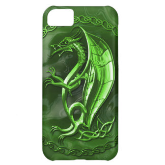 Green Celtic Dragon Cover For iPhone 5C