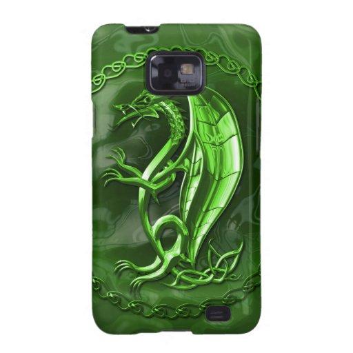 Green Celtic Dragon Galaxy SII Cases