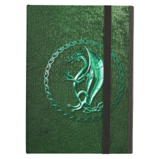 Green Celtic Dragon iPad Folio Case