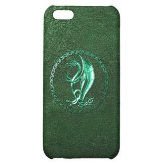 Green Celtic Dragon iPhone 5C Cases