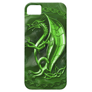 Green Celtic Dragon iPhone SE/5/5s Case