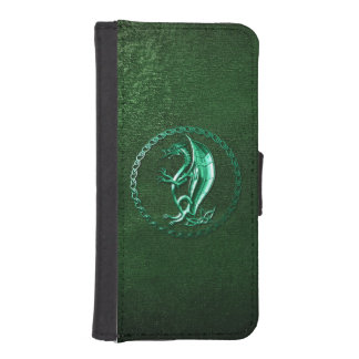 Green Celtic Dragon Phone Wallets