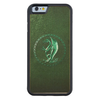 Green Celtic Dragon Carved® Maple iPhone 6 Bumper
