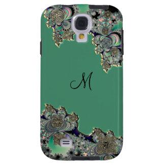 Green Celtic Fractal Galaxy S4 Case