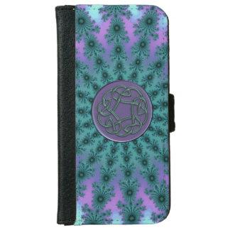 Green Celtic Fractal Mandala iPhone 6 Wallet Case