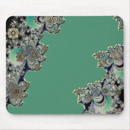 Green Celtic Fractal Mouse Pad