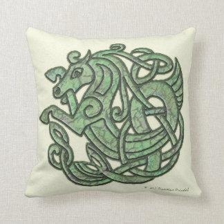 Green Celtic Horse Mojo Pillow