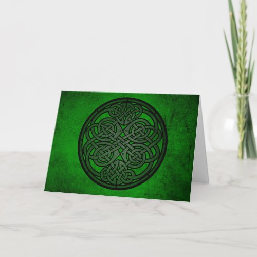 Green Celtic Knot Art
