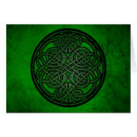 Green Celtic Knot Art Greeting Cards