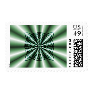 Green Celtic Knot Art Postage