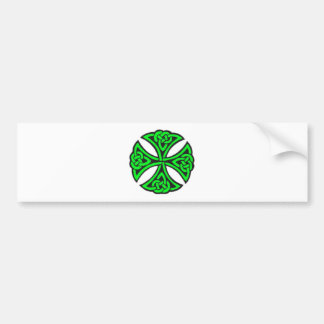 Green Celtic knot. Bumper Stickers