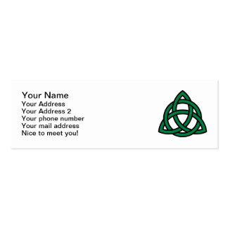 Green celtic knot business cards