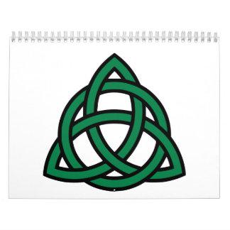 Green celtic knot calendars