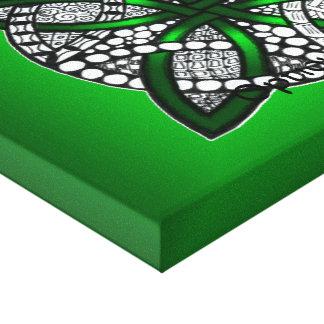 Green Celtic Knot Original Art Canvas Print