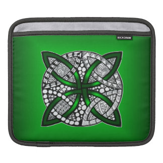Green Celtic Knot Original Art Sleeves For iPads