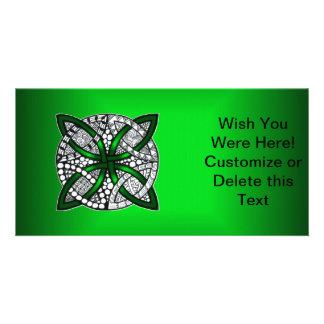 Green Celtic Knot Original Art Photo Cards