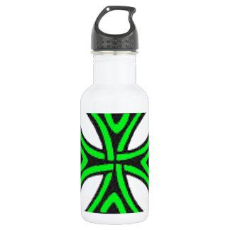 Green Celtic knot. 18oz Water Bottle