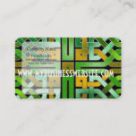 Green Celtic knot square Business Card