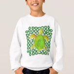 Green Celtic Knot Turtle Kids' Sweatshirts