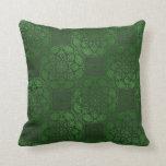 Green celtic mandala pillow