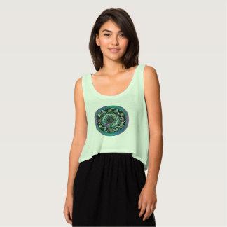 Green Celtic Mandala Tank Top