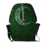 Green Celtic Moon Messenger Bag