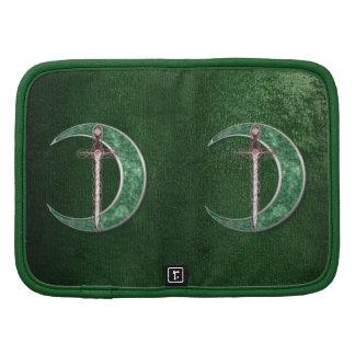 Green Celtic Moon Folio Planners