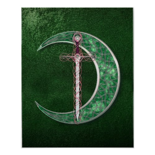 Green Celtic Moon