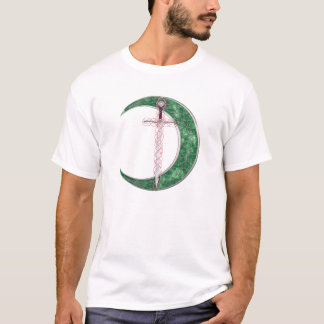 Green Celtic Moon T-Shirt