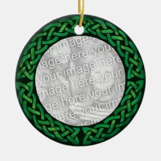 Green Celtic Ornamenrt - Customizable! Ceramic Ornament