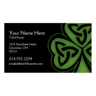 Green Celtic Shamrock Design 1 Irish Business Card