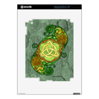 Green Celtic Spiral Trinity Knot Decals For The iPad 2