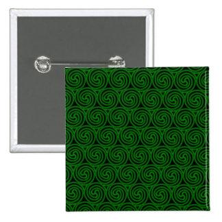 Green Celtic Spirals Pinback Buttons