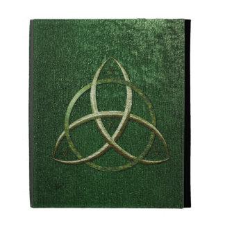 Green Celtic Trinity Knot iPad Cases