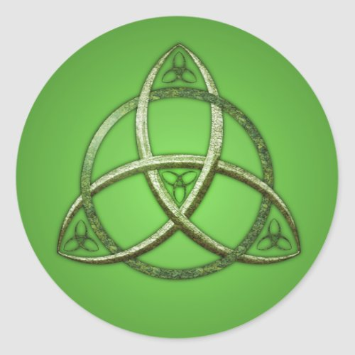 Green Celtic Trinity Knot