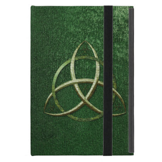Green Celtic Trinity Knot Cover For iPad Mini
