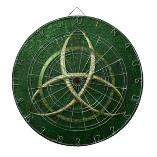 Green Celtic Trinity Knot Dartboards