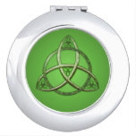 Green Celtic Trinity Knot Makeup Mirrors