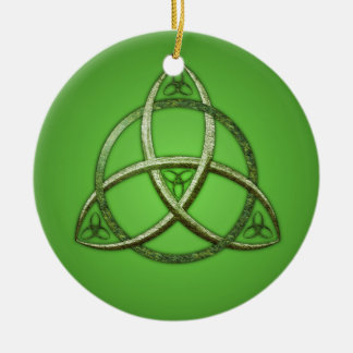 Green Celtic Trinity Knot Ornaments