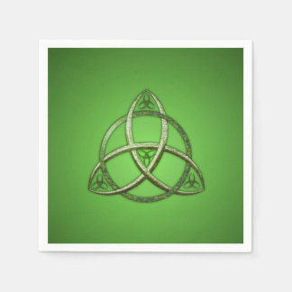 Green Celtic Trinity Knot Paper Napkins
