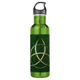 Green Celtic Trinity Knot 24oz Water Bottle