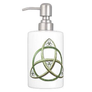 Green Celtic Trinity Knot Bath Sets