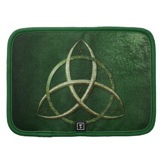 Green Celtic Trinity Knot Folio Planners